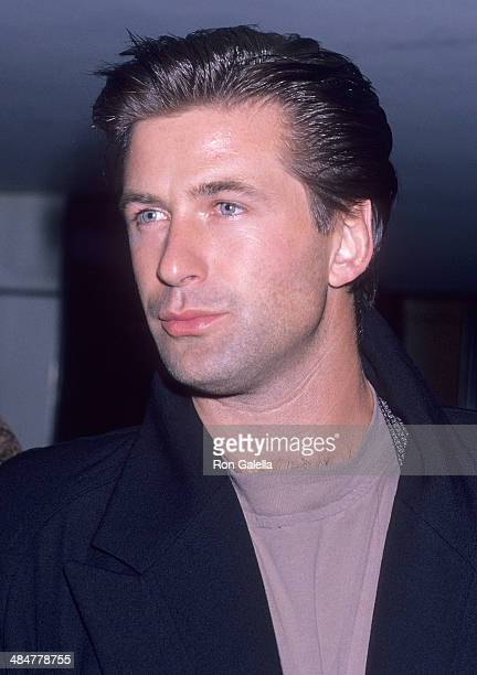Actor Alec Baldwin attends the Party for the Housing Now March on October 3 1989 at Private Eyes in New York City
