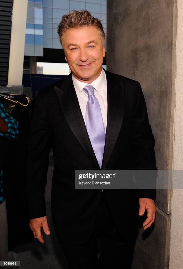 Actor Alec Baldwin backstage at the 61st Primetime Emmy Awards held at the Nokia Theatre on September 20, 2009 in Los Angeles, California.