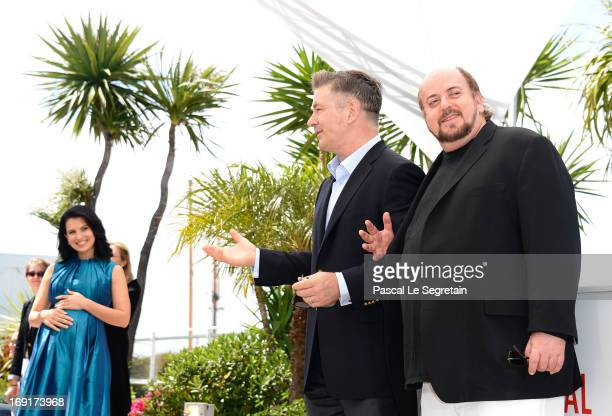 Actor Alec Baldwin Hilaria Baldwin and director James Toback attend the 'Seduced And Abandoned' Photocall during The 66th Annual Cannes Film Festival...