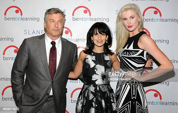 Actor Alec Baldwin host and wife Hilaria Baldwin and model Ireland Baldwin attend the 5th Annual Bent On Learning Inspire Gala at The Prince George...