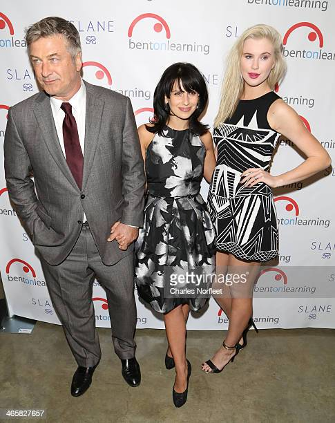 Actor Alec Baldwin host Hilaria Baldwin and model Ireland Baldwin attend the 5th Annual Bent On Learning Inspire Gala at The Prince George Ballroom...