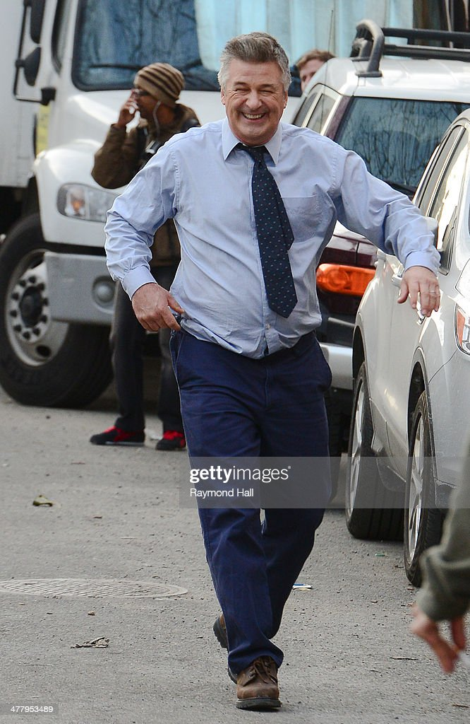 Actor Alec Baldwin is seen on the 'Still Alice' set on March 11, 2014 in New York City.