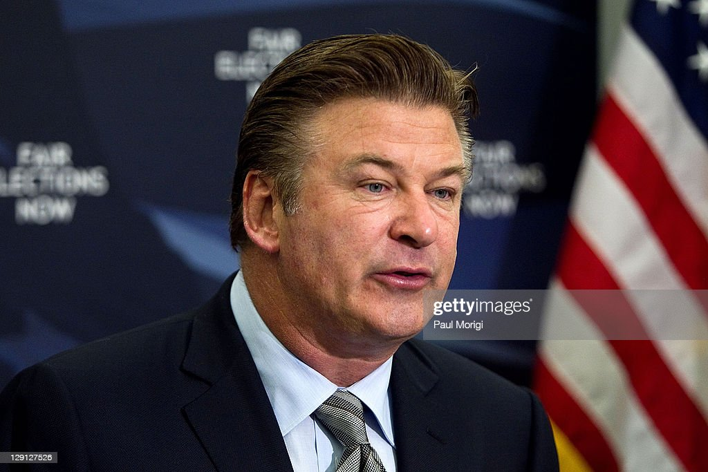 Alec Baldwin Attends The Fair Elections Now Act News Conference : News Photo