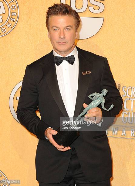 Actor Alec Baldwin poses in the press room at 18th Annual Screen Actors Guild Awards held at The Shrine Auditorium on January 29, 2012 in Los...