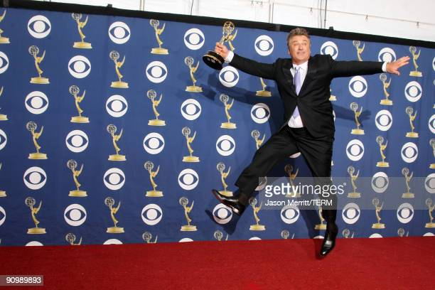 Actor Alec Baldwin poses in the press room with his Emmy for Outstanding Lead Actor in a Comedy Series for '30 Rock' at the 61st Primetime Emmy...