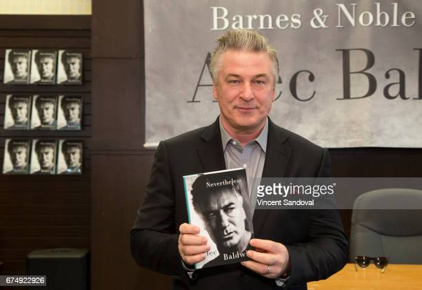 Actor Alec Baldwin signs his book 'Nevertheless A Memoir' at Barnes Noble at The Grove on April 29 2017 in Los Angeles California