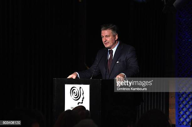 Actor Alec Baldwin speaks on stage during 2015 New York Film Critics Circle Awards at TAO Downtown on January 4 2016 in New York City