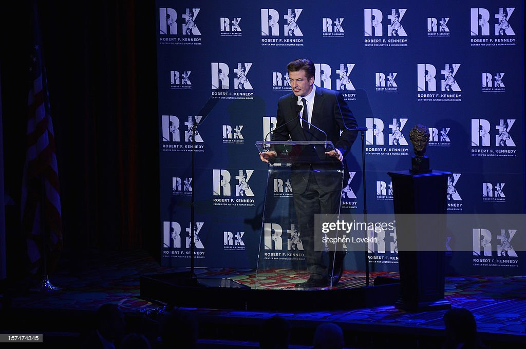 Actor Alec Baldwin speaks onstage at the 2012 Ripple Of Hope Gala at The New York Marriott Marquis on December 3, 2012 in New York City.