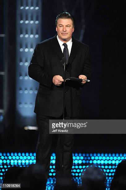 Actor Alec Baldwin speaks onstage at the First Annual Comedy Awards at Hammerstein Ballroom on March 26, 2011 in New York City.