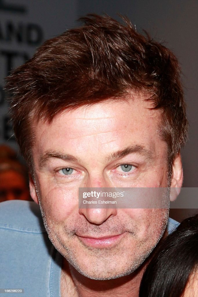 Actor Alec Baldwin spins in SoulCycle's Soul Relief Rides at SoulCycle Tribeca on November 11, 2012 in New York City.