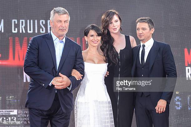 Actor Alec Baldwin television personality Hilaria Thomas Baldwin model Ireland Baldwin actor Jeremy Renner enter the 'Mision ImpossibleRogue Nation'...