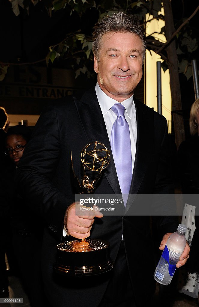 Actor Alec Baldwin, winner of Outstanding Lead Actor in a Comedy Series for '30 Rock' backstage at the 61st Primetime Emmy Awards held at the Nokia Theatre on September 20, 2009 in Los Angeles, California.