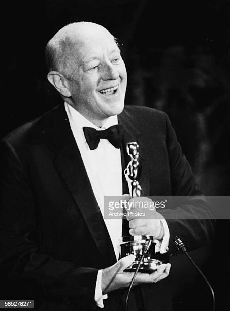 Actor Alec Guinness on stage receiving his Honorary Oscar at the 52nd Academy Awards Los Angeles April 14th 1980
