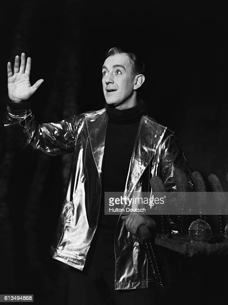Actor Alec Guinnesss as the Scientist in Under the Sycamore Tree at the Golders Green Hippodrome 1951