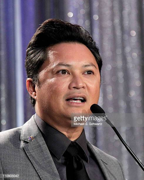 Actor Alec Mapa addresses the audience at The Roosevelt Hotel on March 25 2011 in Hollywood California