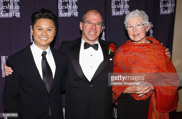 Actor Alec Mapa Event CoChair Dean Hansell and Ellen DeGeneres' mother Betty DeGeneres attend the LA Gay and Lesbian Center's 33rd Aniversary and...