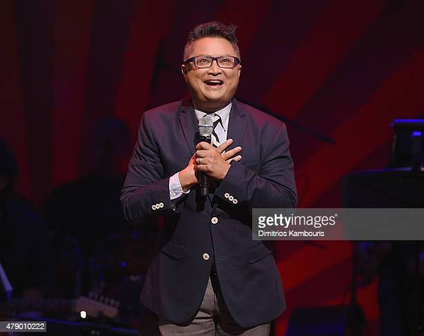 Actor Alec Mapa performs on stage during Voices For The Voiceless Stars For Foster Kids at St James Theater on June 29 2015 in New York City