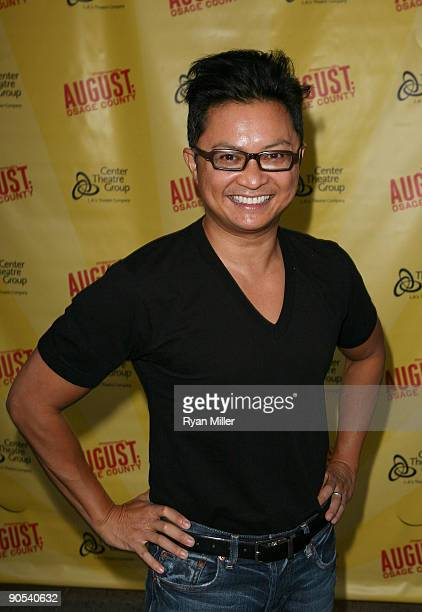 Actor Alec Mapa poses during the arrivals for the opening night performance of August Osage County at the Center Theatre Group/Ahmanson Theatre on...