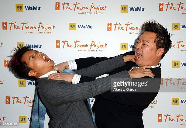 Actor Alec Mapa vs actor Rex Lee arrive at Cracked Xmas 10 to benefit The Trevor Project at Wiltern Theater on December 2 2007 in Los Angeles...