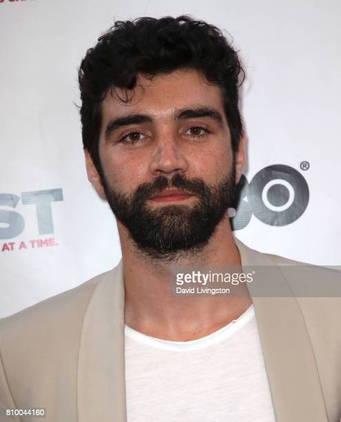 Actor Alec Secareanu attends the 2017 Outfest Los Angeles LGBT Film Festival Opening Night Gala of 'God's Own Country' at the Orpheum Theatre on July...