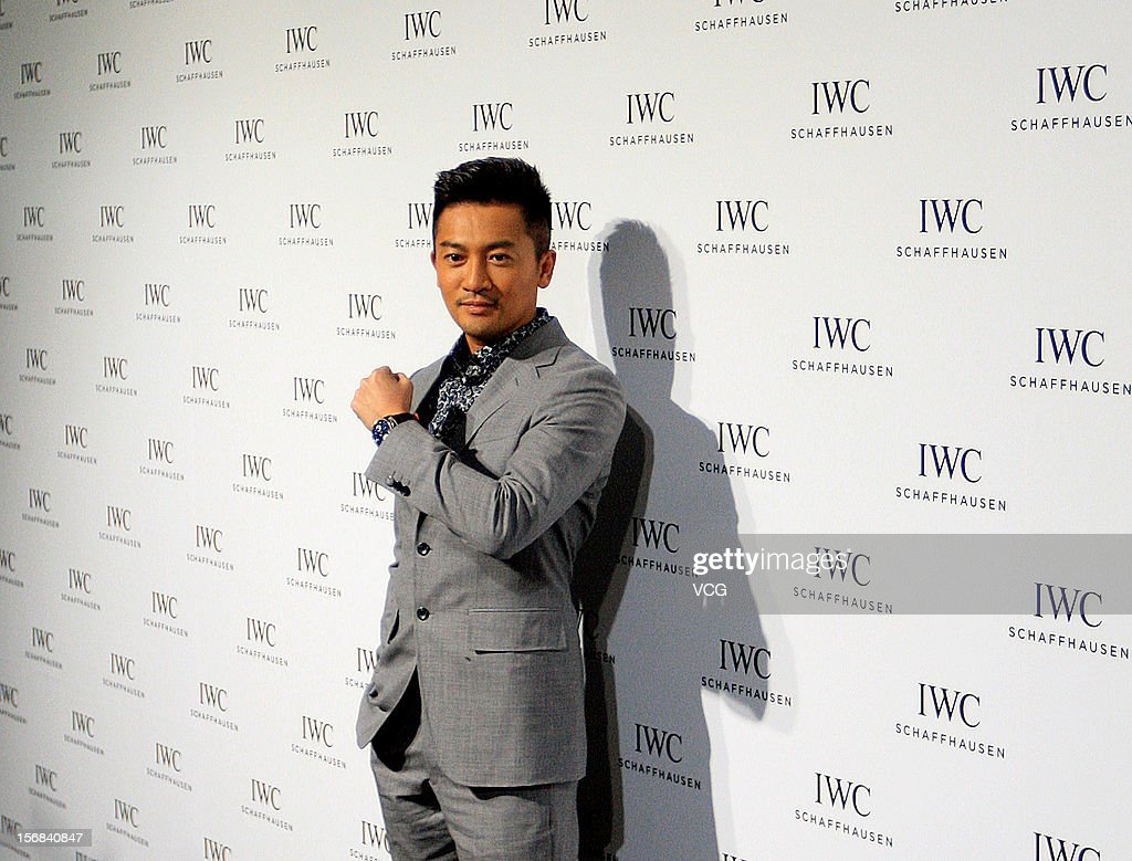 Actor Alec Su attends IWC flagship store opening ceremony at Parkview Green Shopping Mall on November 22, 2012 in Beijing, China.