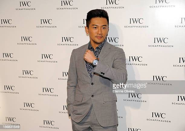 Actor Alec Su poses for photographs during the IWC Flagship Boutique Opening on November 22 2012 in Beijing China
