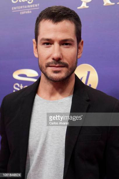 Actor Alejandro Albarracin attends 'Anastasia The Musical' premiere at the Coliseum Teather on October 10 2018 in Madrid Spain