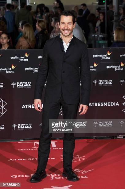 Actor Alejandro Albarracin attends 'Las Distancias' premiere during the 21th Malaga Film Festival at the Cervantes Theater on April 17 2018 in Malaga...