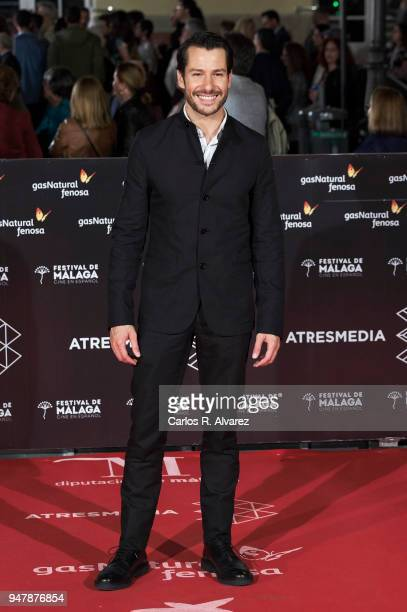 Actor Alejandro Albarracin attends 'Las Distancias' premiere during the 21th Malaga Film Festival at the Cervantes Theater on April 17 2018 in Malaga...