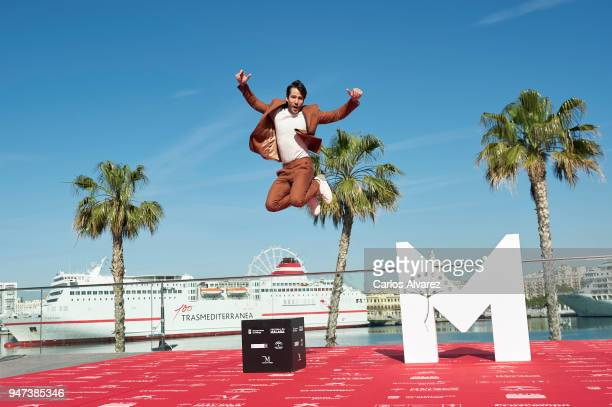 Actor Alejandro Albarracin attends 'Mi Querida Cofradia' photocall during the 21th Malaga Film Festival on April 17 2018 in Malaga Spain