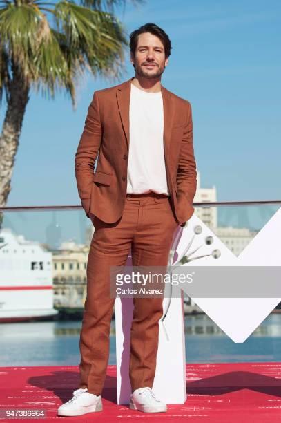 Actor Alejandro Albarracin attends 'Mi Querida Cofradia' photocall during the 21th Malaga Film Festival on April 17 2018 in Malaga Spain