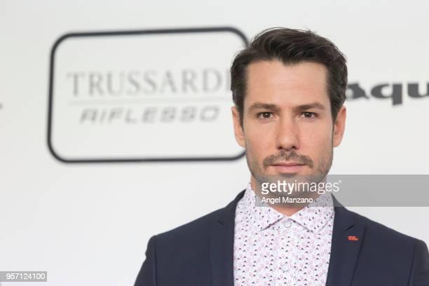Actor Alejandro Albarracin attends new fragrance Riflesso de Trussardi launching party at Palacio de Santa Coloma on May 10 2018 in Madrid Spain