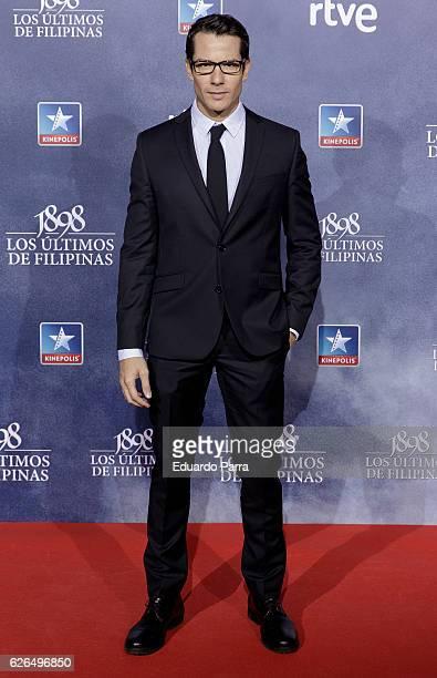 Actor Alejandro Albarracin attends the '1898 los ultimos de Filipinas' premiere at Kinepolis cinema on November 29 2016 in Madrid Spain