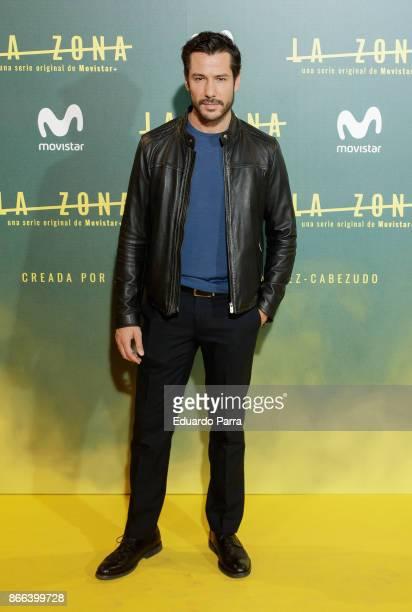 Actor Alejandro Albarracin attends the 'La Zona' premiere at Capitol cinema on October 25 2017 in Madrid Spain