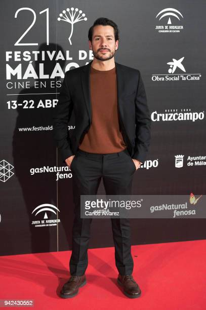 Actor Alejandro Albarracin attends the Malaga Film Festival 2018 presentation at Circulo de Bellas Artes on April 5 2018 in Madrid Spain