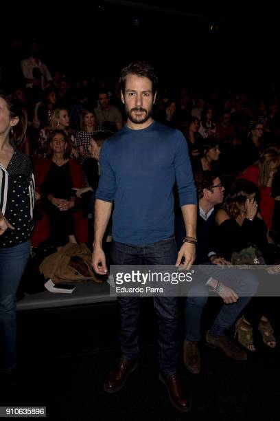 Actor Alejandro Albarracin is seen at the The 2ND Skin Co show during MercedesBenz Fashion Week Madrid Autumn/ Winter 201819 at Ifema on January 26...