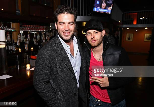Actor Alejandro Nones and Luis Franco attend the Cinemania Party during the 2011 Tribeca Film Festival at Tribeca Cinemas on April 24 2011 in New...
