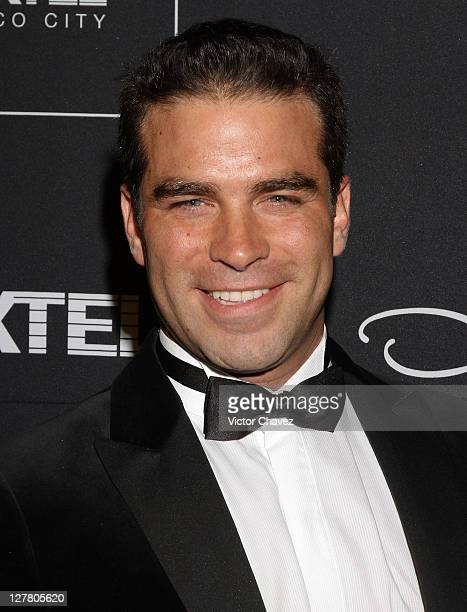 Actor Alejandro Nones attends the Gala Moda Nextel 2011 red carpet at the Plaza de Toros on June 4 2011 in Mexico City Mexico
