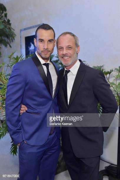 Actor Alejandro Sandi and designer Christopher Grubb attend the Costume Designers Guild Awards at The Beverly Hilton Hotel on February 20 2018 in...