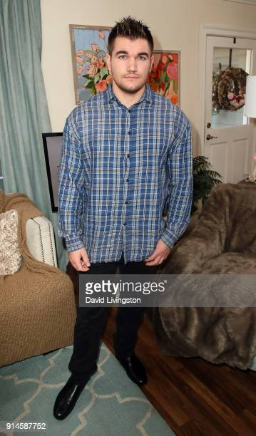 Actor Alek Skarlatos visits Hallmark's Home Family at Universal Studios Hollywood on February 5 2018 in Universal City California