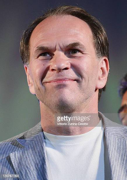 Actor Aleksei Guskov attends the Premio Raimondo Rezzonico red carpet during the 64th Festival del Film di Locarno on August 9 2011 in Locarno...