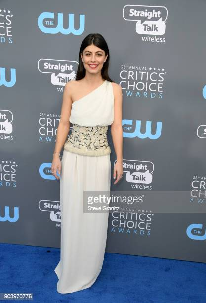 Actor Alessanda Mastronardi attends The 23rd Annual Critics' Choice Awards at Barker Hangar on January 11 2018 in Santa Monica California