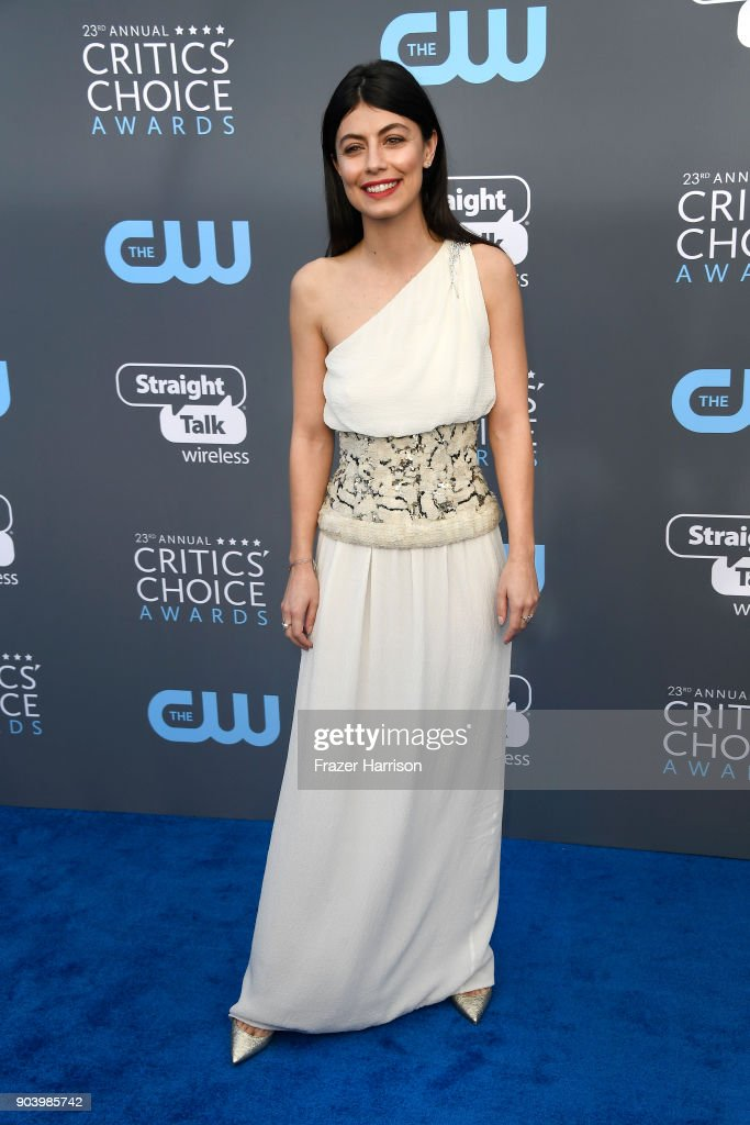 Actor Alessandra Mastronardi attends The 23rd Annual Critics' Choice Awards at Barker Hangar on January 11, 2018 in Santa Monica, California.
