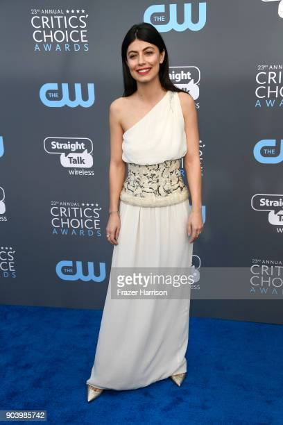 Actor Alessandra Mastronardi attends The 23rd Annual Critics' Choice Awards at Barker Hangar on January 11 2018 in Santa Monica California