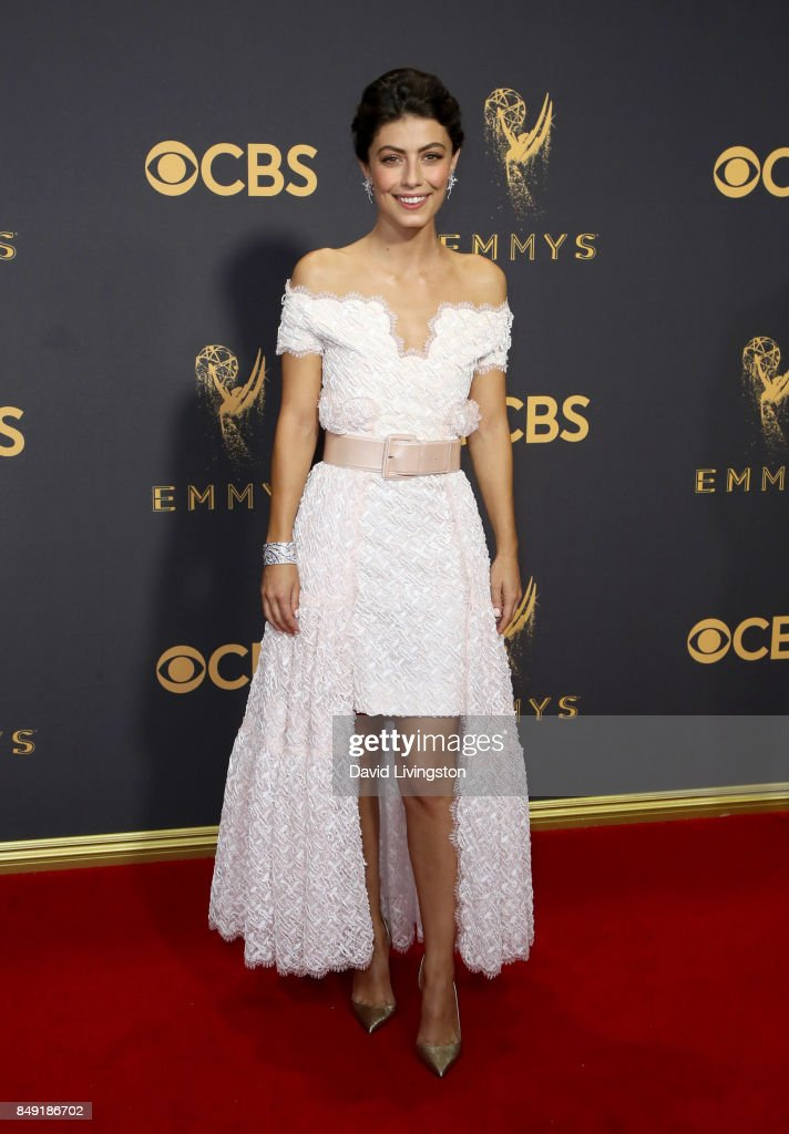 Actor Alessandra Mastronardi attends the 69th Annual Primetime Emmy Awards - Arrivals at Microsoft Theater on September 17, 2017 in Los Angeles, California.