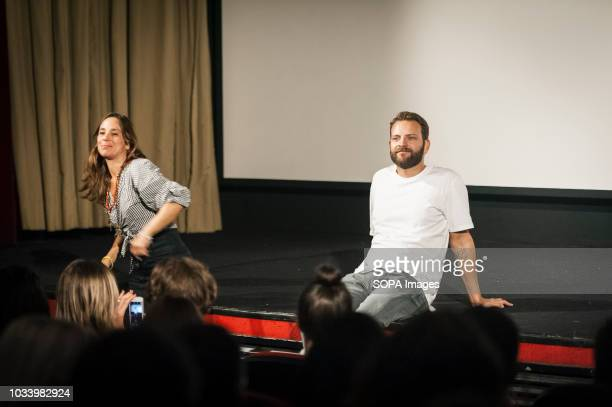 Actor Alessandro Borghi and actress Jasmine Trinca seen before the audience during the presentation of the movie On My Skin at the 75thVenice...
