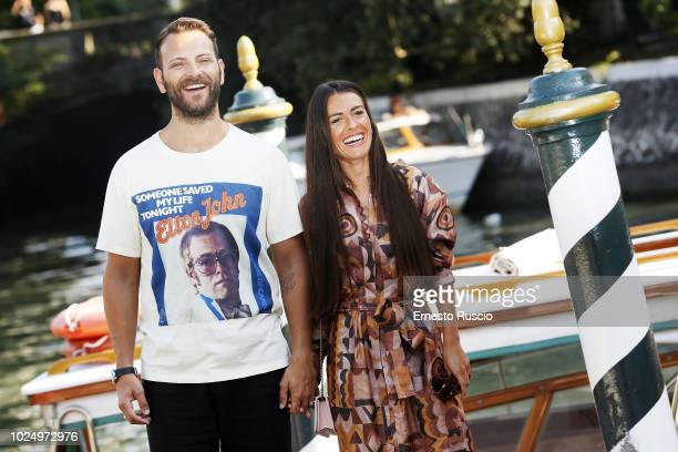Actor Alessandro Borghi and Roberta Pitrone are seen during the 75th Venice Film Festival at Excelsior Hotel on August 29 2018 in Venice Italy