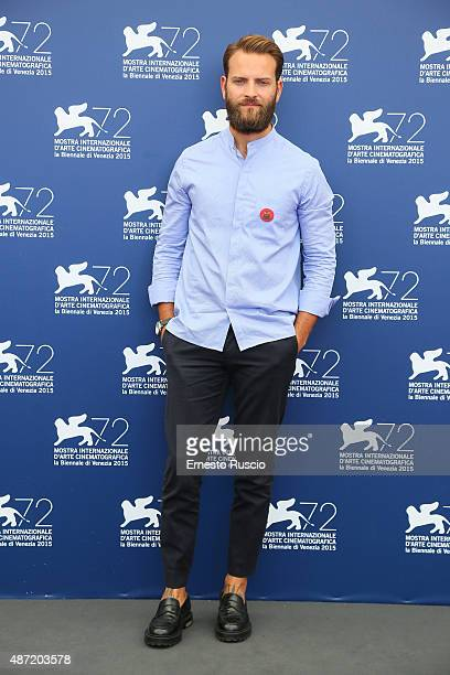 Actor Alessandro Borghi attends a photocall for 'Don't Be Bad' during the 72nd Venice Film Festival on September 7 2015 in Venice Italy