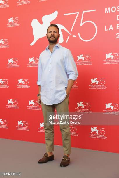 Actor Alessandro Borghi attends 'Sulla Mia Pelle ' photocall during the 75th Venice Film Festival at Sala Casino on August 29 2018 in Venice Italy