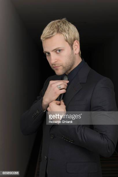 Actor Alessandro Borghi is photographed for Self Assignment on February 17 2017 in Rome Italy